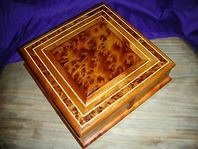 New Thuya Burl Box With Four Drawers