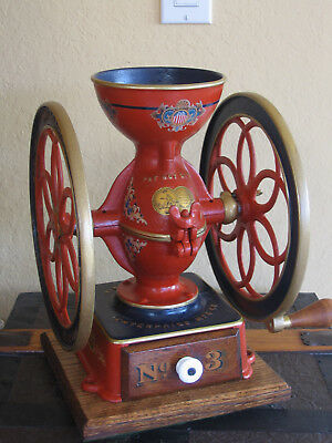 Antique Early 1870s Enterprise No. 3 Cast iron Coffee Grinder Mill