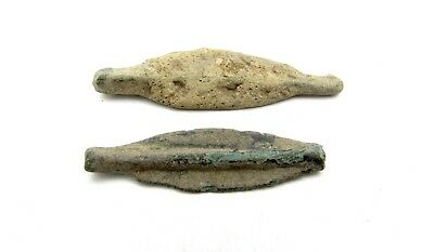 Lot Of 2 Bronze Proto Money - Dolphins - Ancient Currency - Olbia - Q688