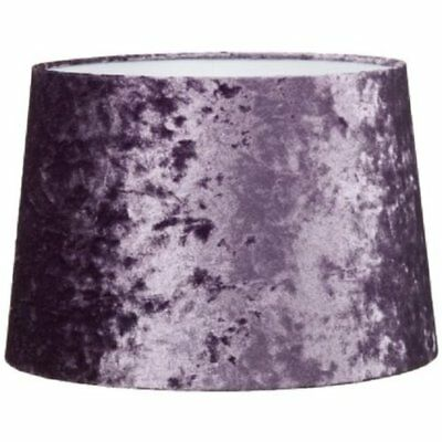 """Luxe Crushed Velvet Effect Dual Purpose Lampshade Lightshade Shade - Purple 11"""""""