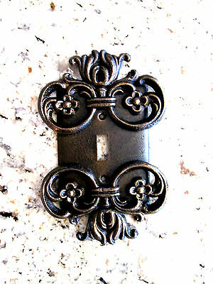 Metal Single Light Switch Plate Cover Old World Hand Made Tuscan Medieval Fleur