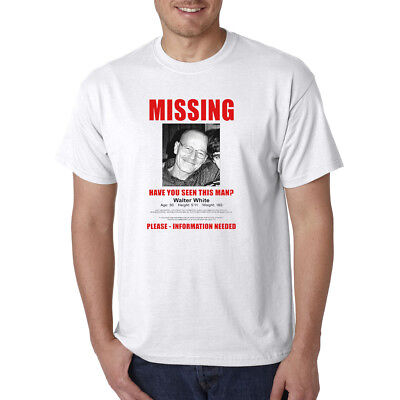 Walter White MISSING Person Flyer Poster T Shirt
