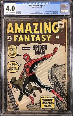 AMAZING FANTASY #15 CGC 4.0 Origin/First Spider-Man PAYMENT OPTIONS AVAILABLE!!!