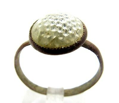 Late/post Medieval Ring W/ Red Stone / Gem - Rare Artifact Wearable - Q708