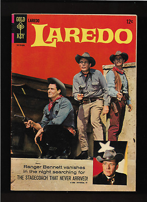 "1966 1ST Iss. "" LAREDO ""  WESTERN PHOTO GOLD KEY COMIC BOOK HIGHER GRADE NICE !"