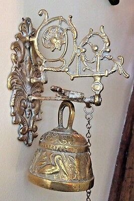 Solid Brass Victorian Style Doorbell with Hanging Chain 18 Inches Max Height