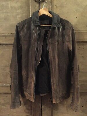 Mens All Saints Leather Jacket Small