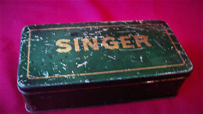 Old Antique Singer 103 German Sewing Accessory Tin Attachments Storage Box