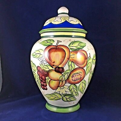 Large Cookie Biscotti Jar With Lid Hand Painted For Nonni's