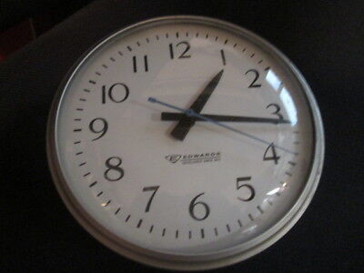 "Edwards Company 10""(face) Clock Vtg Industrial Factory Schoolhouse"