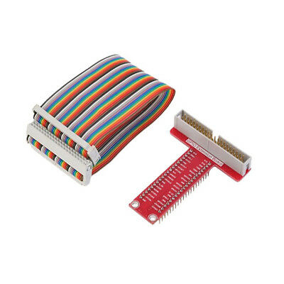T GPIO Breakout Expansion Board +40Pin Rainbow Cable DIY For Raspberry Pi B+ 3 2