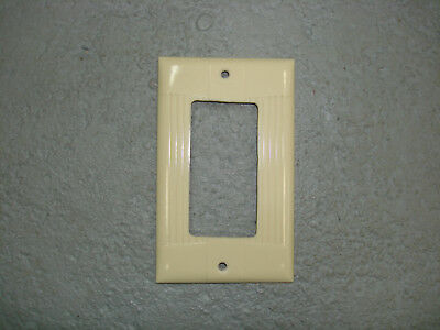 Vintage Uniline Ivory Decora GFCI Switch Outlet Cover Plate Eagle Ribbed