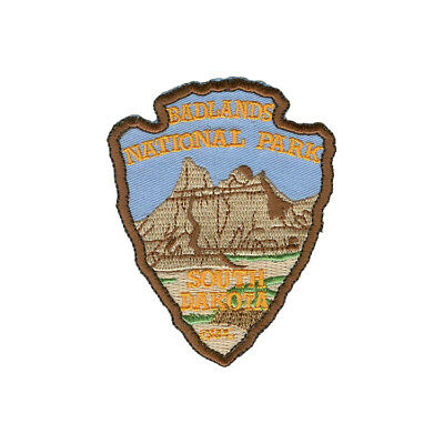 Official Badlands National Park Souvenir Patch South Dakota Arrowhead Iron on