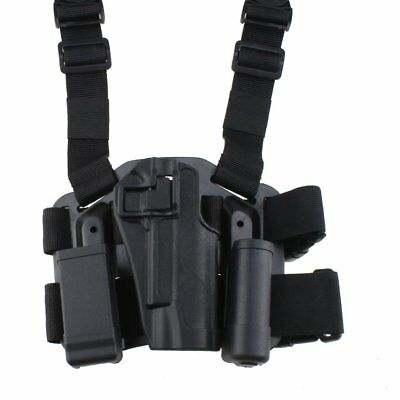Military Tactical Forces Right Hand Paddle Leg Belt Drop Holster for Colt 1911