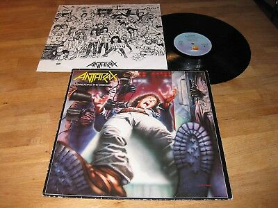 ANTHRAX Spreading The Disease LP 1986 Island w/OIS |Sacred Reich, Testament|