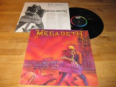MEGADETH Peace Sells… LP Rare Capitol w/OIS |Exodus, Death Angel|