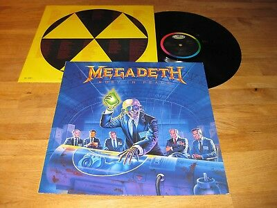 MEGADETH Rust In Peace LP Rare 1990 Capitol w/OIS |Metallica, Forbidden|