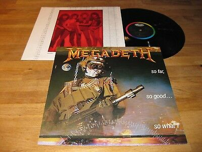MEGADETH So Far, So Good… So What! LP 1988 Capitol w/OIS |Overkill, Heathen|