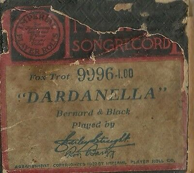 Dardanella, played by Charley Straight & Roy Bargy Imperial 9996 Piano Roll Orig