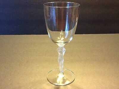 """Elegant Glass Tiffin Draped Nude 7 1/4"""" Goblet (6 available)"""