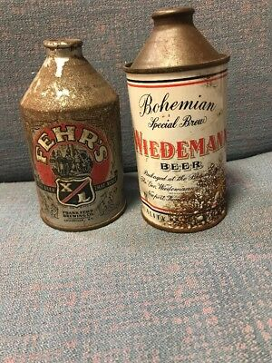 Vintage Wiedemann And Fehr's Cone Top Beer Cans Louisville KY And Newport KY