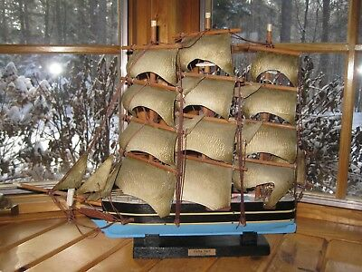 "Vintage CUTTY SARK 1869 Model WOODEN SHIP 19"" long"