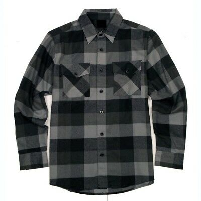 Men's 6 Oz Padded Button Front Brawny Yarn-Dyed Flannel Shirt Jacket