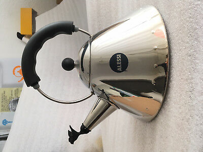 ALESSI MICHAEL GRAVES 9093 BIRD WHISTLE KETTLE BLACK HANDLE (USED) with BOX