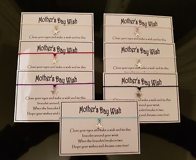 Wholesale * Job Lot * Bulk * Mother's Day Wishes * Wish Bracelet * Friendship *