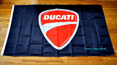 Ducati Flag Banner 3x5 ft Italy Motorcycles Bikes Black Red