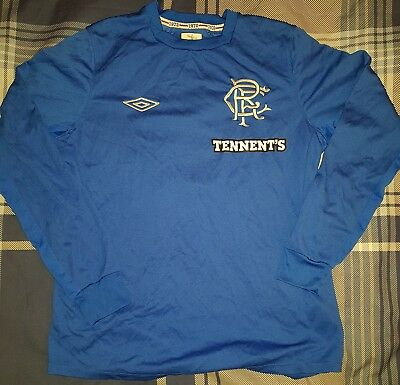 Rangers 2012/13 long sleeved umbro home shirt with SFL no 11 on back small adult