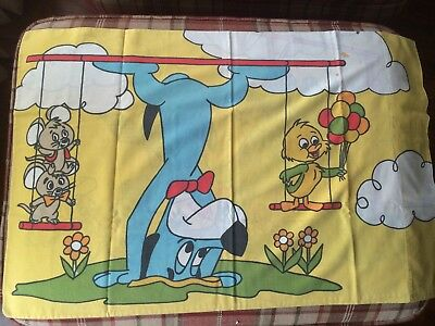 Vintage HuckleBerry Hound Cartoon Pillow case circa 70's