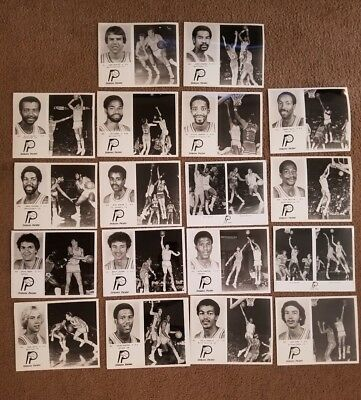 Vintage 1970's Lot of 18 NBA Indiana Pacers Player Photo's 8x10 Alex English