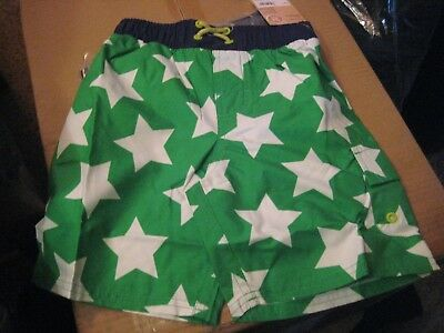 CARTER'S   BOYS  SWIM SHORTS   GREEN  STARS   SIZE 3 T     Swimming Suit  NWT