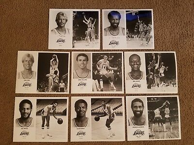 Vintage 1978-80 Lot of 8 NBA Los Angeles Lakers Player Photo's 8x10
