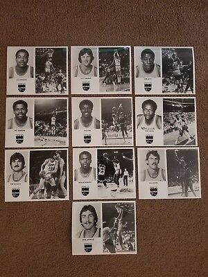 Vintage 1970's Lot of 10 Kansas City Kings NBA Player Photo's 8x10