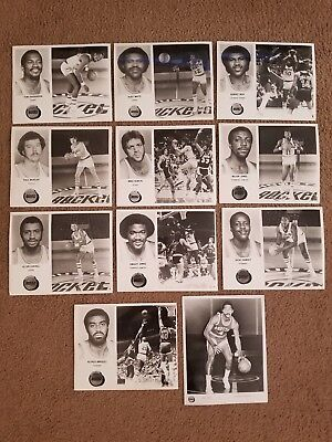 Vintage 1970's Lot of 11 NBA Houston Rockets Player Photo's 8x10