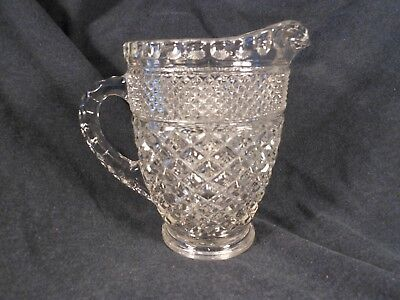 "6"" Tall Cut Glass Pitcher, Used  #143"