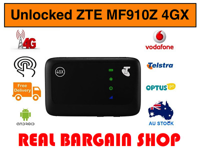 Unlocked Telstra Zte Mf910Z 4Gx Pocket Wifi Optus/vodafone/aldi/boost/lyca/tpg