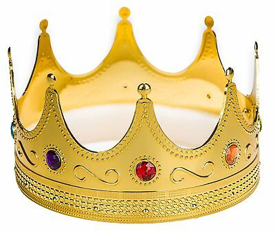 Regal King Crown Unisex Gold King Crown For Kings And Queens Halloween Costume