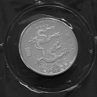 2012 Year of The Dragon  1/2 oz .999 Fine Silver Round SEALED