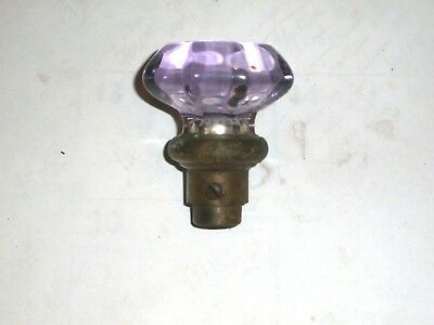 Antique 8 Sided Glass Door Knob #36