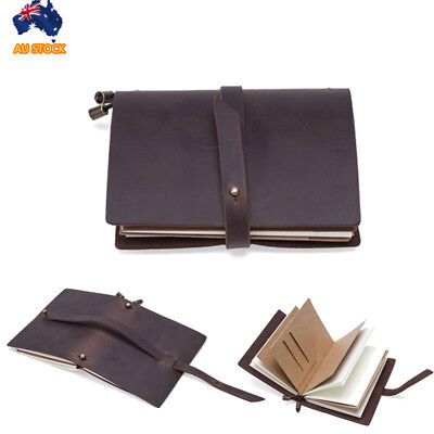 Vintage Leather Journal Diary Handmade Notebook Pouch Travel Sketchbook Cover