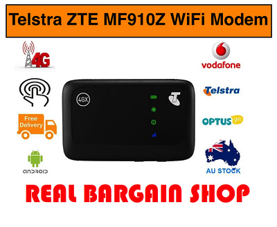 New Telstra Zte Mf910Z 4Gx Pocket Wifi Broadband Modem