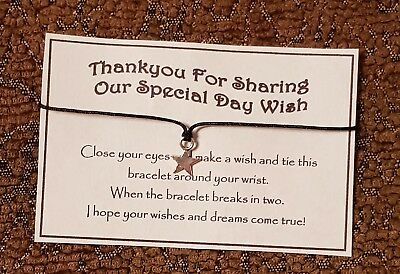 Wholesale * Job Lot * Bulk * Special Day Wish * Wish Bracelet * Thank You *