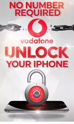 100% Official FAST Vodafone UK iPhone unlock Service 4S/5/5S/5C/6/6+/6S/6S+/7/7+