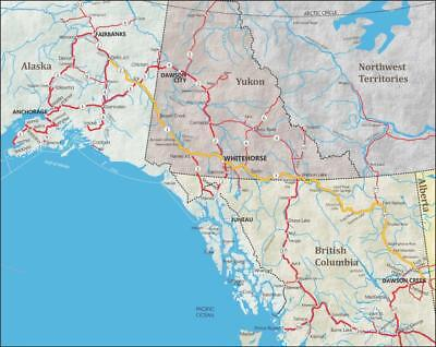 MAP OF CANADA\'S Yukon & South Central Alaska, Cruise Tour Guide Map ...