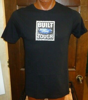 (W) Built Tough Ford Motor Company black medium t-shirt, American automaker