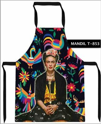 New Mexican Frida Kahlo Apron for Kitchen Garden Cooking Mandil Folkloric Ethnic