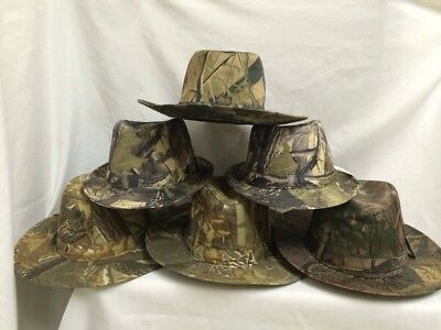 Mixed Lot Of 6 ~ 3 Oaks Outdoor Camo Hats Different Styles & Camo Designs Sizes